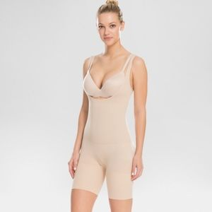 Spanx Assets Open Bust Mid Thigh Body Shaper